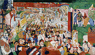 James Ensor -- Entry of Christ into Brussels (1888)