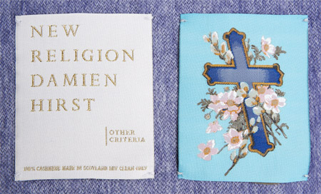 Damien-hirst-new-religion-blanket-label