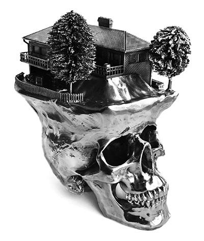 Frodo-mikkelsen-skull-sculptures