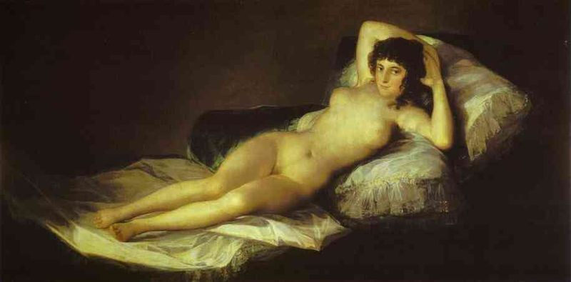 Francisco+de+Goya+-+The+Nude+Maja+(La+Maja+Desnuda)+