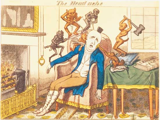 George cruikshank:headache