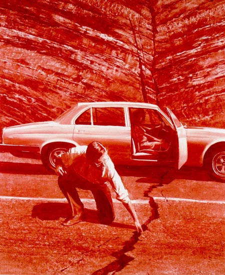 Doubting Thomas by Mark Tansey found on Never Mind the Bricolage